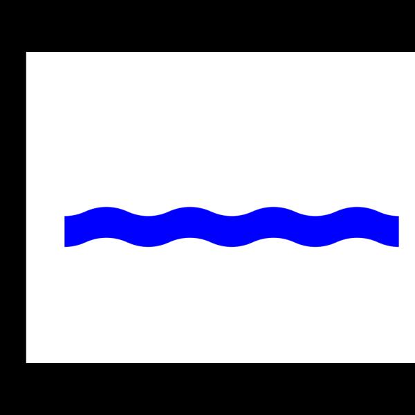 Waterline Wave Blue PNG Clip art