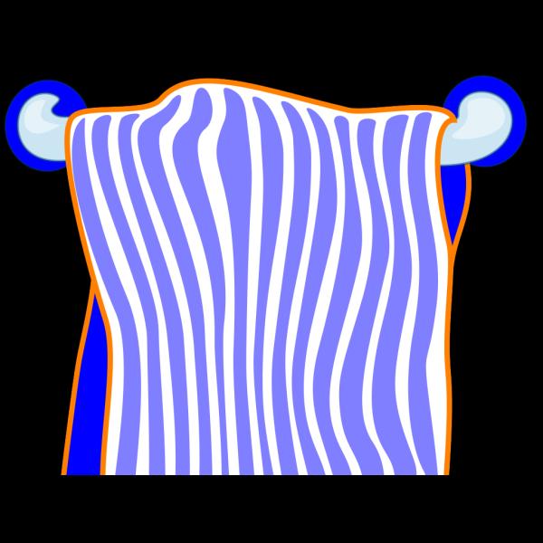 Bath Towel Blue PNG images