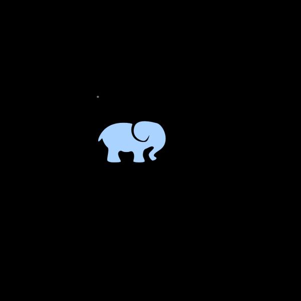 Blue Baby Elephant - No Outline PNG Clip art