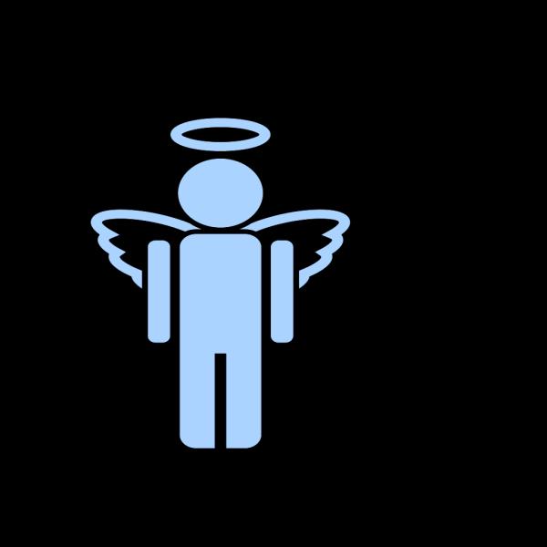 Blue Girl Angel PNG Clip art