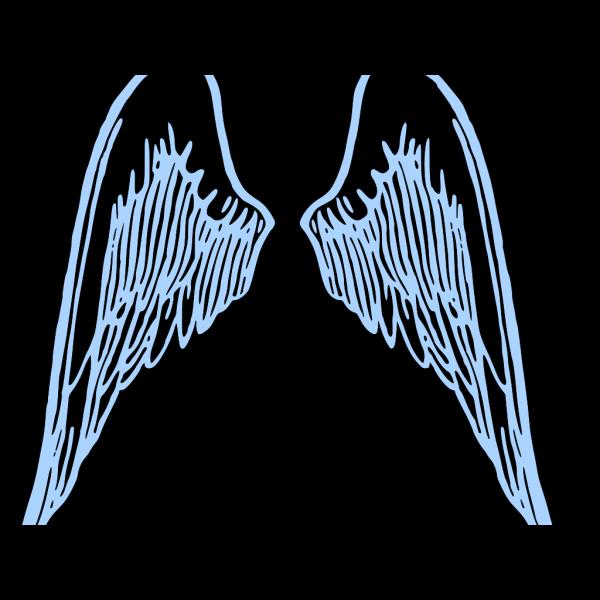 Blue Boyie Wings PNG Clip art