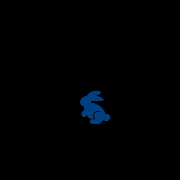 Dark Cyan Bunny PNG Clip art