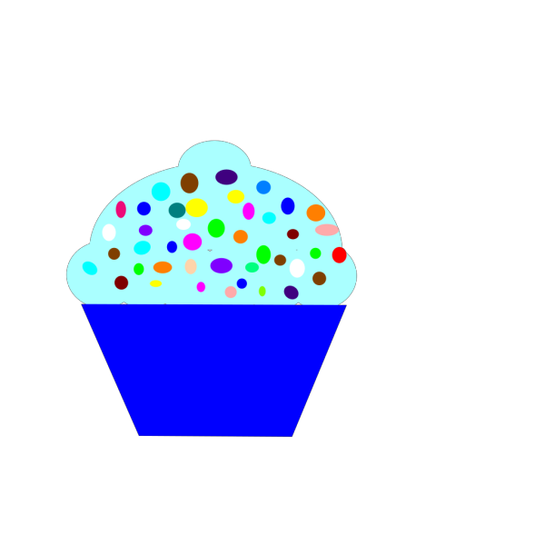 Cupcake Blue Silhouette PNG Clip art