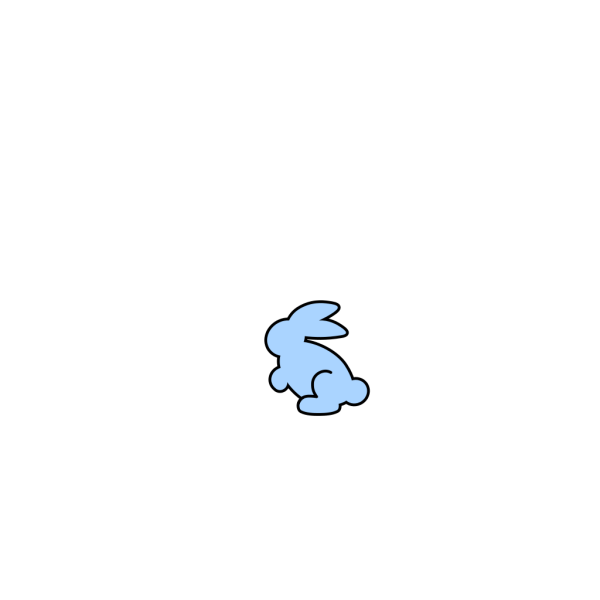 Soft Cyan Bunny PNG Clip art