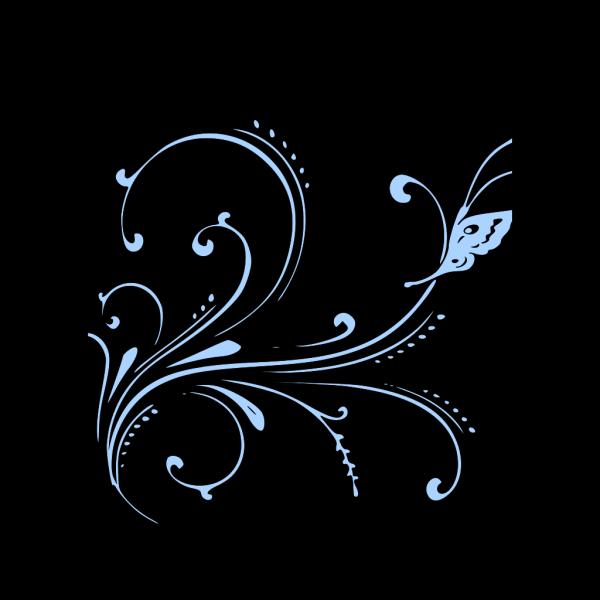 Butterfly Scroll PNG Clip art