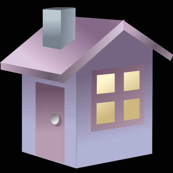 Blue 3d House PNG Clip art