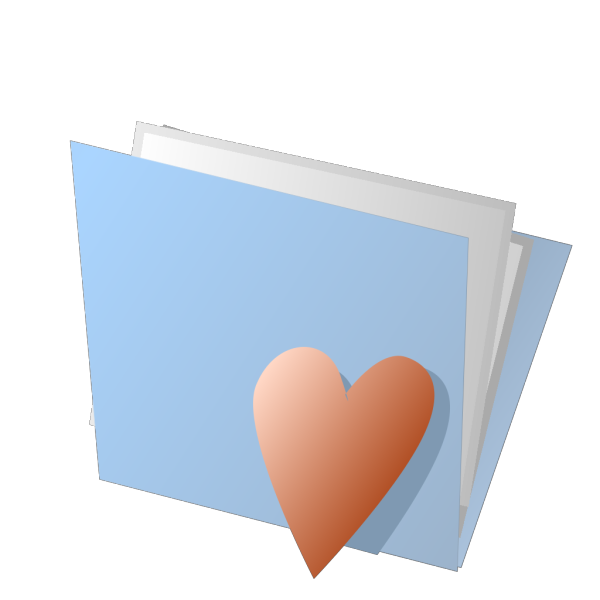 Blue Folder With Heart PNG Clip art