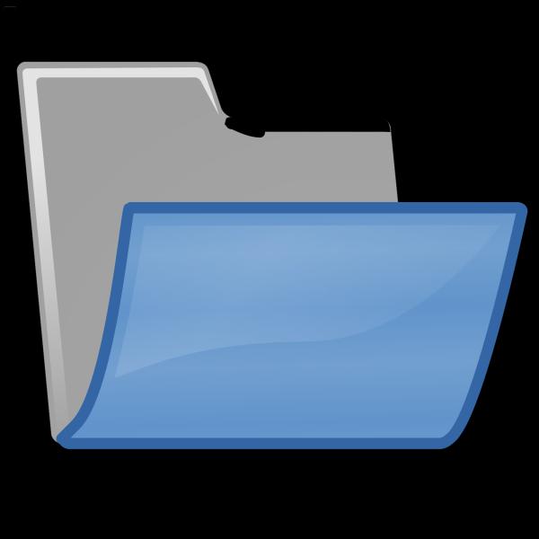 Blue Folder PNG Clip art