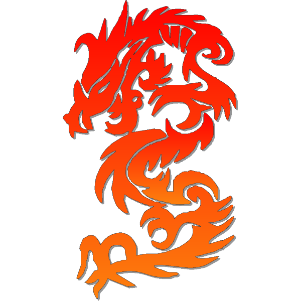 Blue Chinese Dragon PNG Clip art