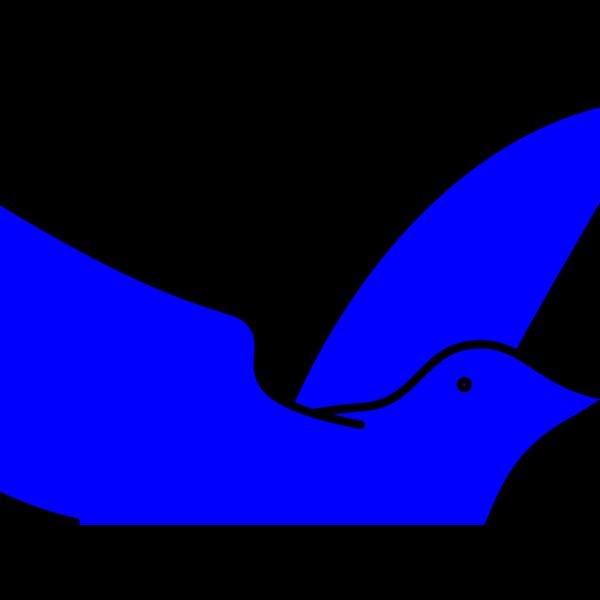 Blue Dove PNG Clip art