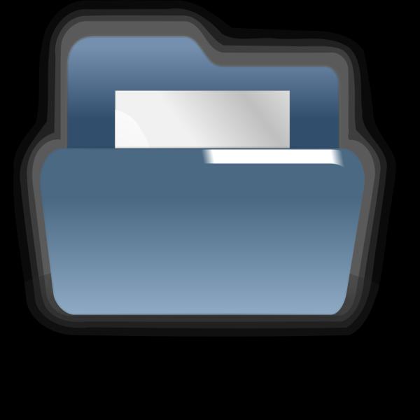 Open Blue Folder PNG Clip art