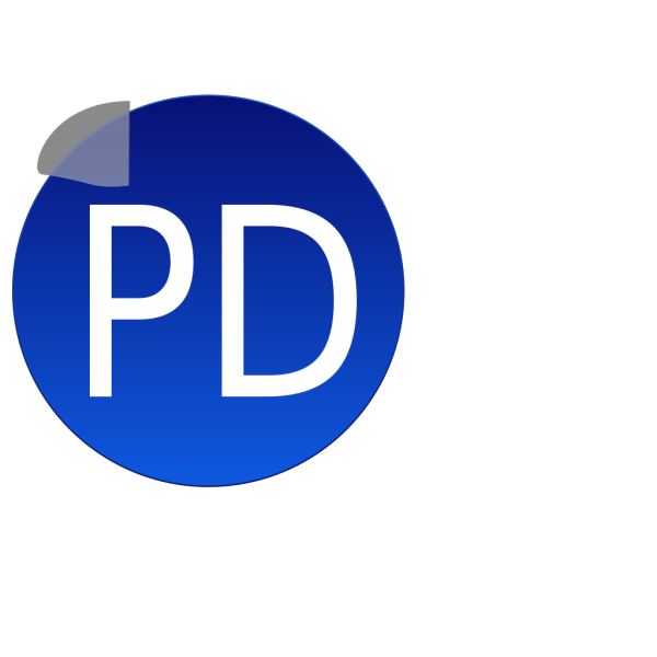 Blue Pd PNG Clip art