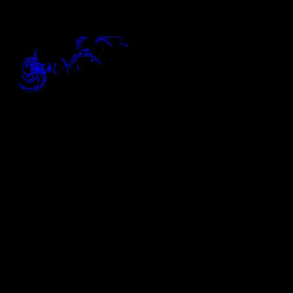 Blue Finger Print PNG Clip art