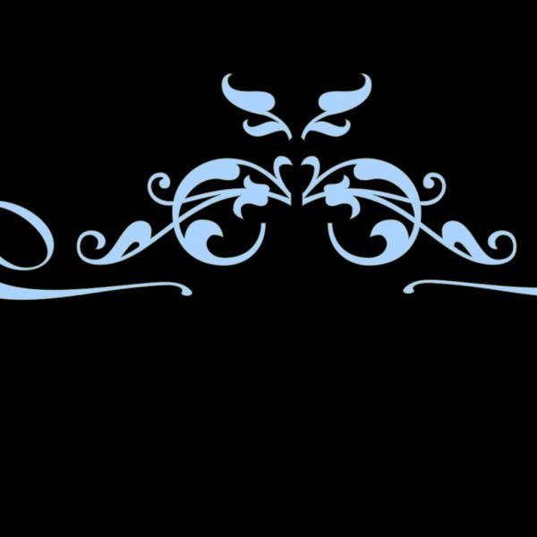 Swirl Blue Border PNG Clip art