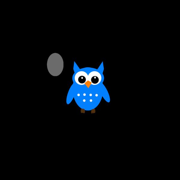 Sky Blue Hoot Owl PNG Clip art