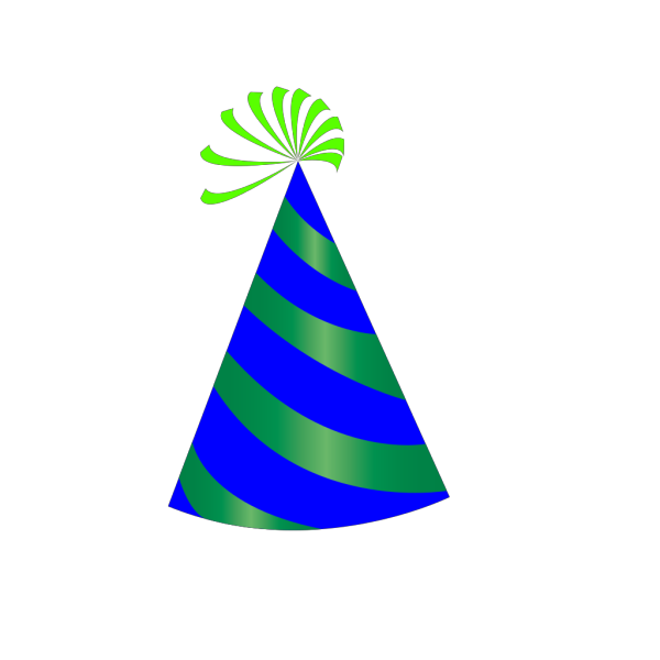 Party Hat Blue, Red & Yellow PNG Clip art