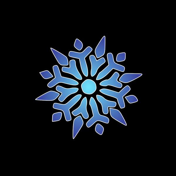 Snowflake Blue Radiant PNG Clip art