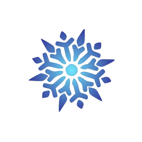 Snowflake Blue Radiant No Trim PNG Clip art