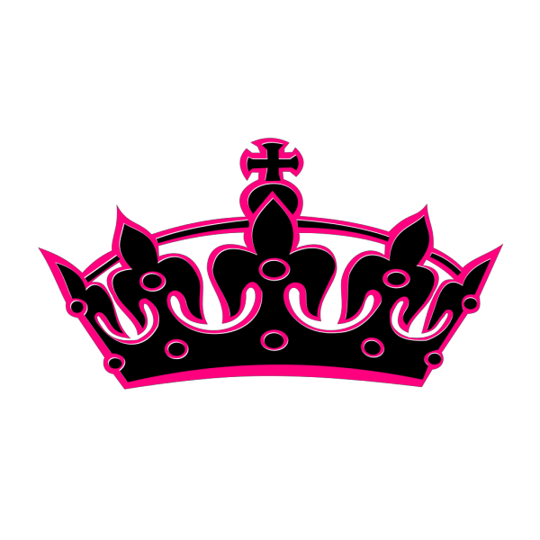 Pink Tilted Tiara PNG icons