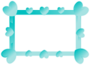 Blue Gradient Heart Frame PNG Clip art
