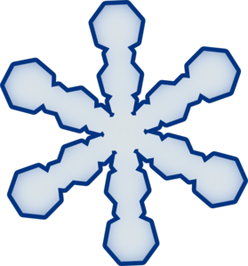 Simple Snowflake PNG Clip art