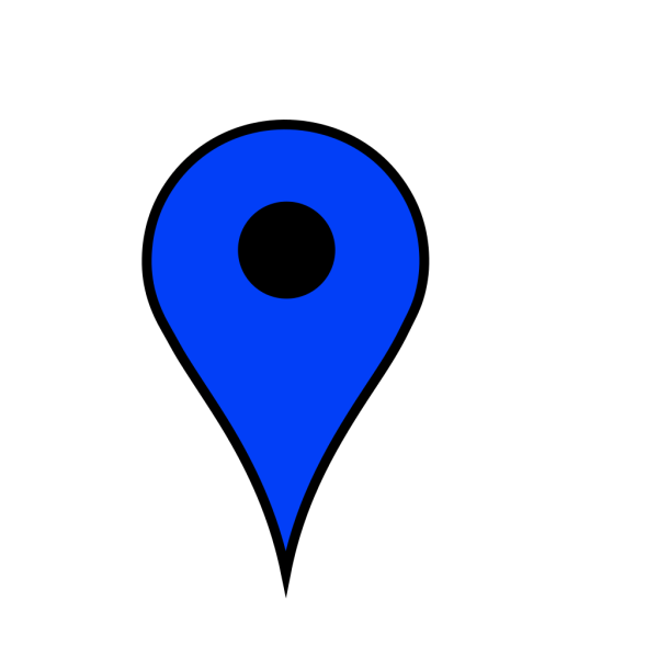 Map Pin Blue PNG Clip art