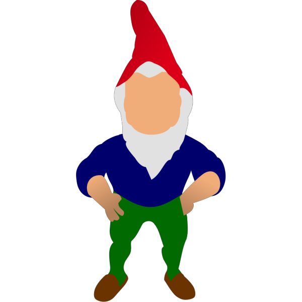Gnome With Blue Hat PNG Clip art