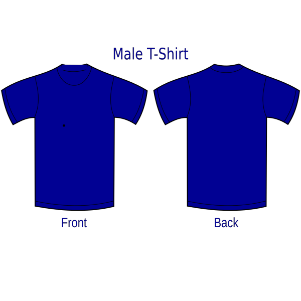 Blue Front And Back Tshirt PNG Clip art
