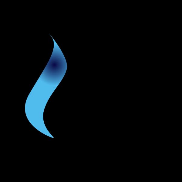 Half Flame PNG Clip art
