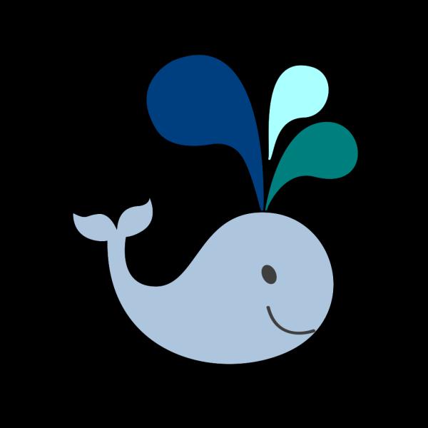 Little Light Blue Whale PNG Clip art