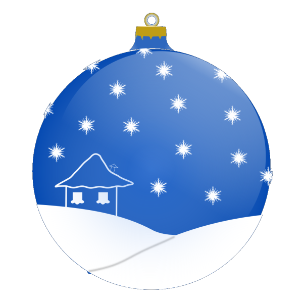 Blue Winter Ornament Ball PNG Clip art