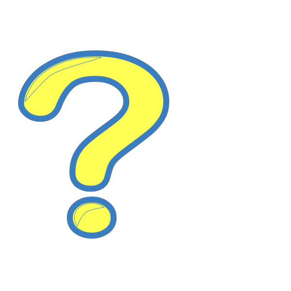 Yellow And Blue Question Mark PNG Clip art