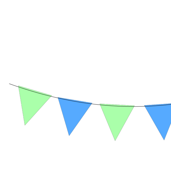 Green Blue Bunting PNG icon