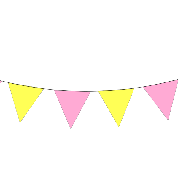 Green Blue Pink Yellow Bunting PNG Clip art