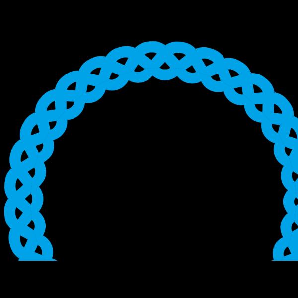 Blue Round Frame PNG Clip art