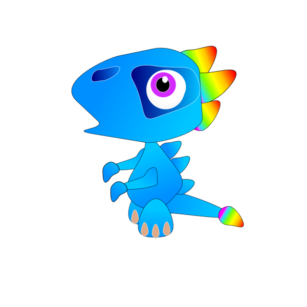 Blue Baby Dragon PNG Clip art