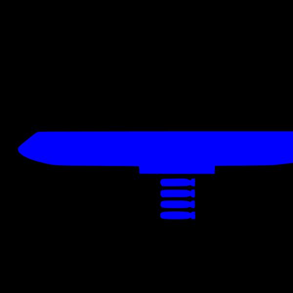 Bomber Blue PNG Clip art