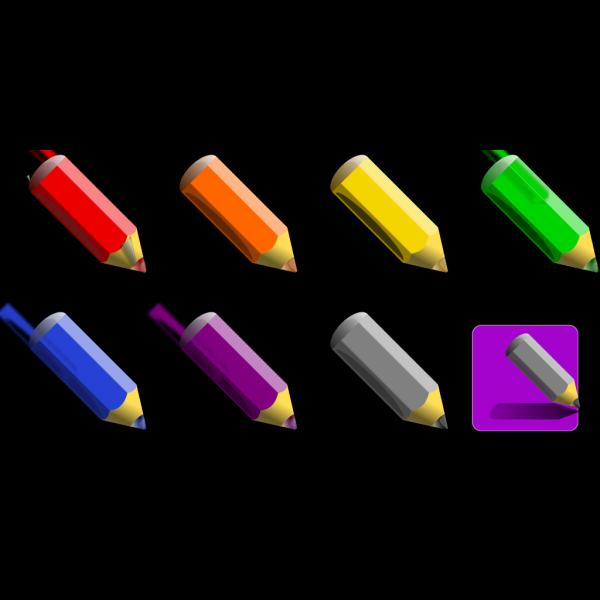 Color Pencils PNG Clip art