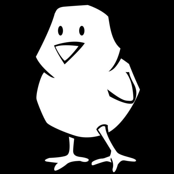 Chick Blue Outline PNG Clip art