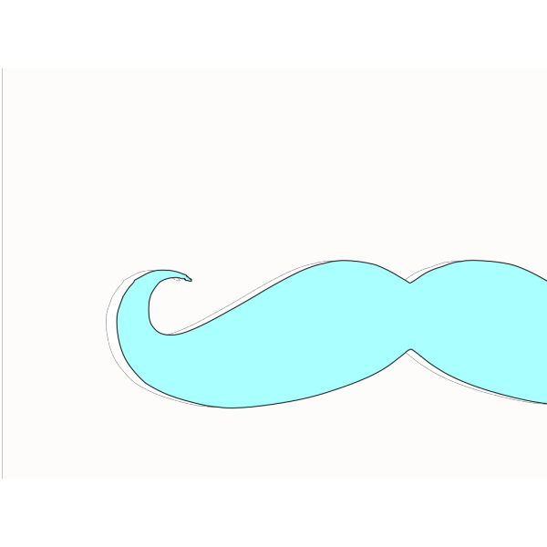 Blue Moustche PNG Clip art