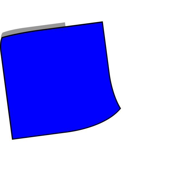 Blue Sticky Note PNG Clip art
