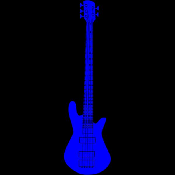 Guitar Flower Blue PNG Clip art