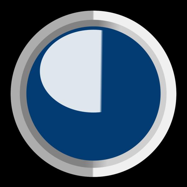 Dark Dark Blue  Led Circle 3 PNG Clip art