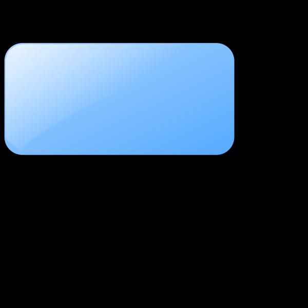 Blank Light Blue  Button PNG Clip art