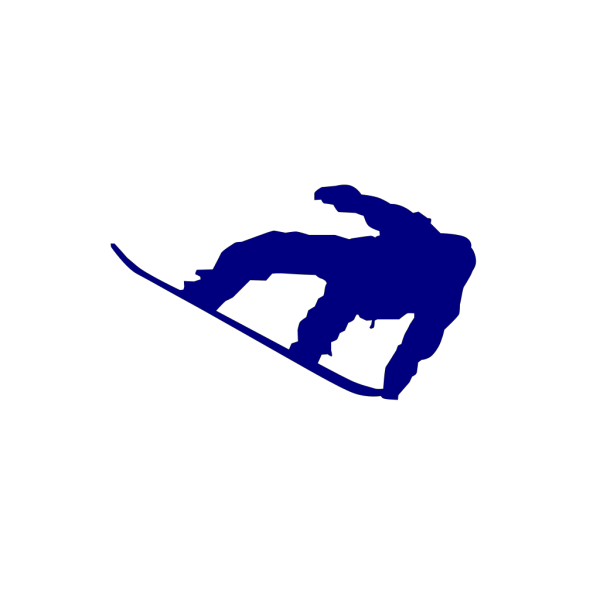 Snowboard Navy Blue PNG images