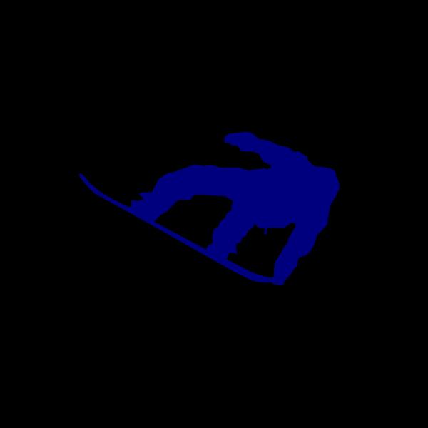 Snowboard Navy Blue PNG Clip art