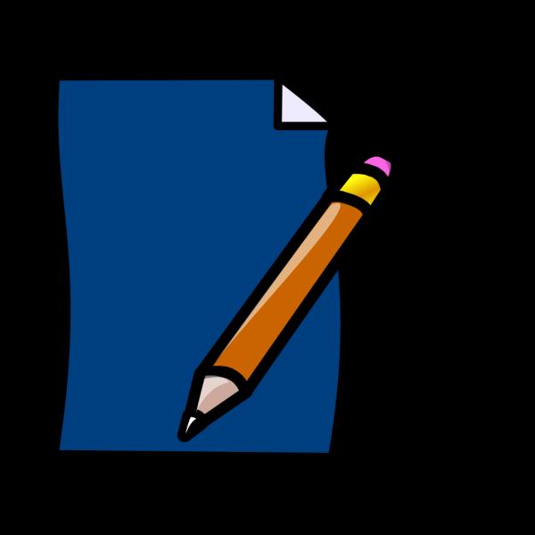 Planner Pencil Blue PNG Clip art