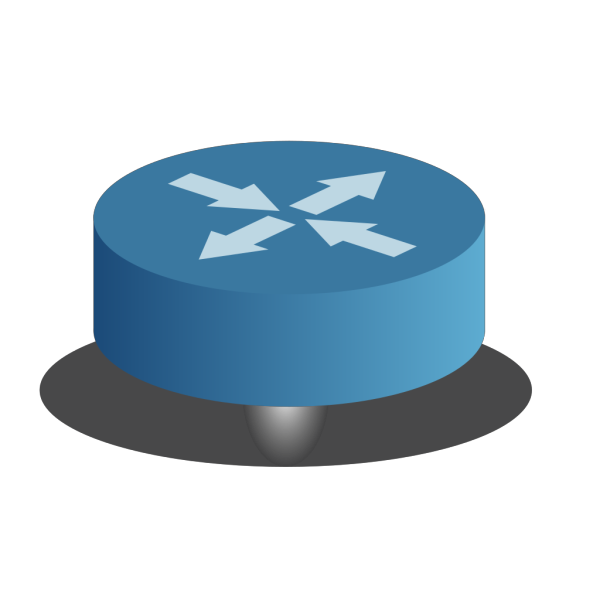 Small Blue Router PNG Clip art