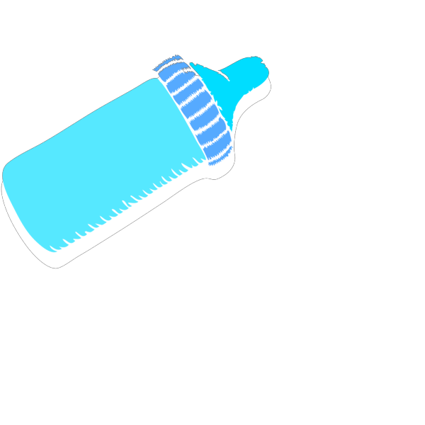 Baby Bottle Blue PNG Clip art