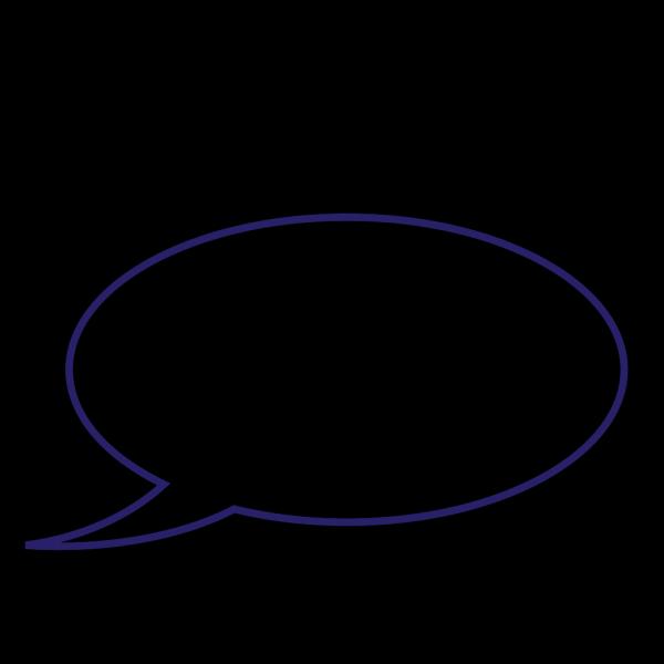 Quote Bubble Blue PNG Clip art